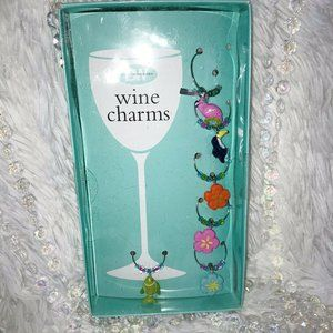 Set Of 6 Wine Glass Charms Marker GIFTS bridesmaid